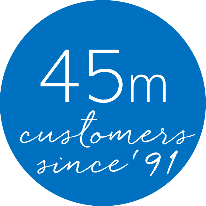 45m Customer since '91